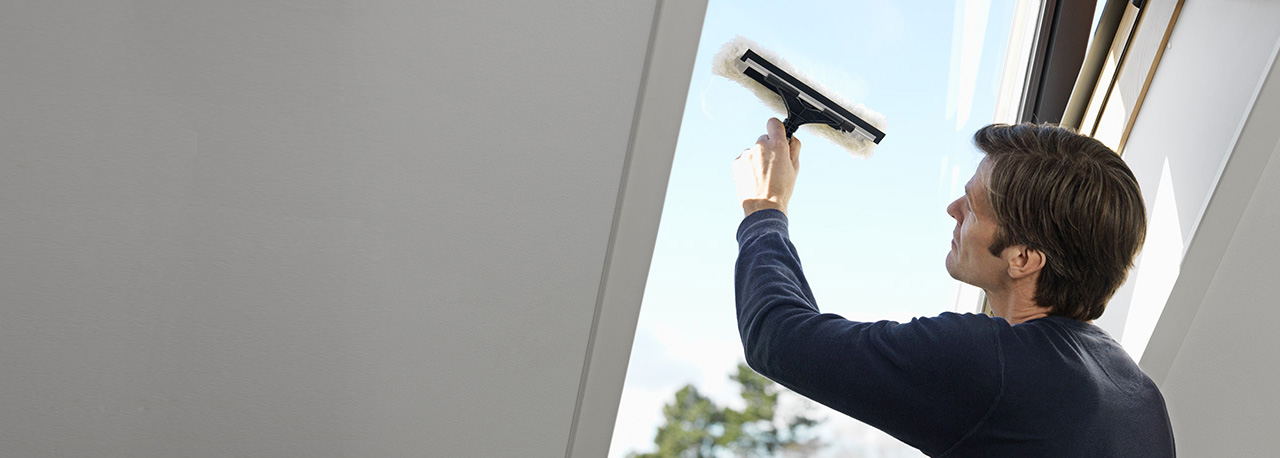 how to clean your velux roof window